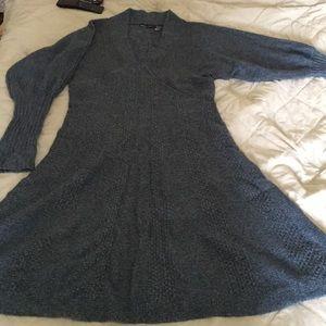 A-line sweater dress